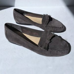 Alex Marie NWOB Gray Suede Loafer Flats Size 9.5W